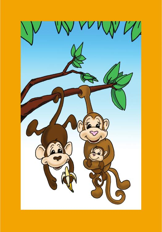 Footprint Card, Monkeys