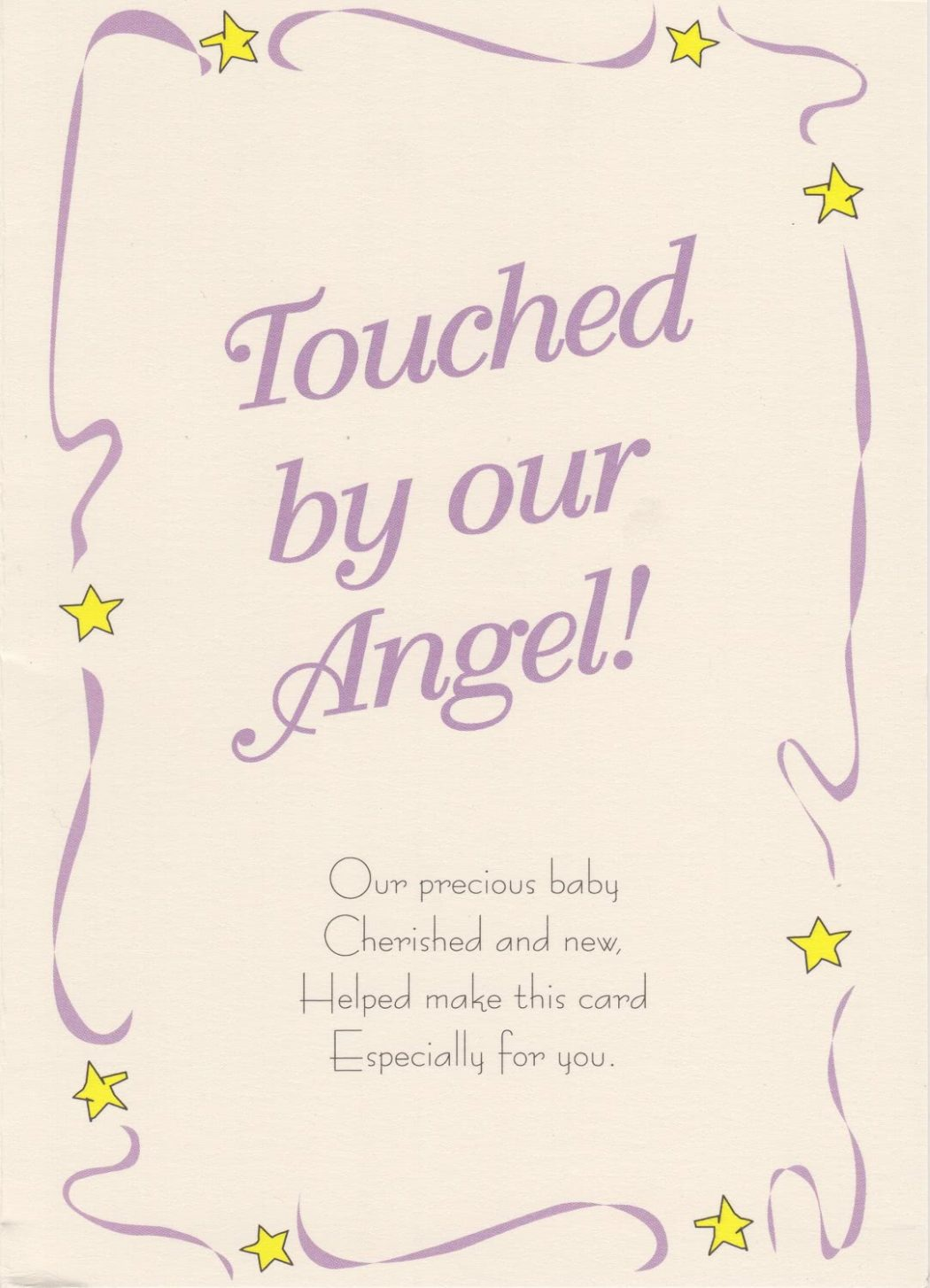 Angel Birth Announcement (2 pack)