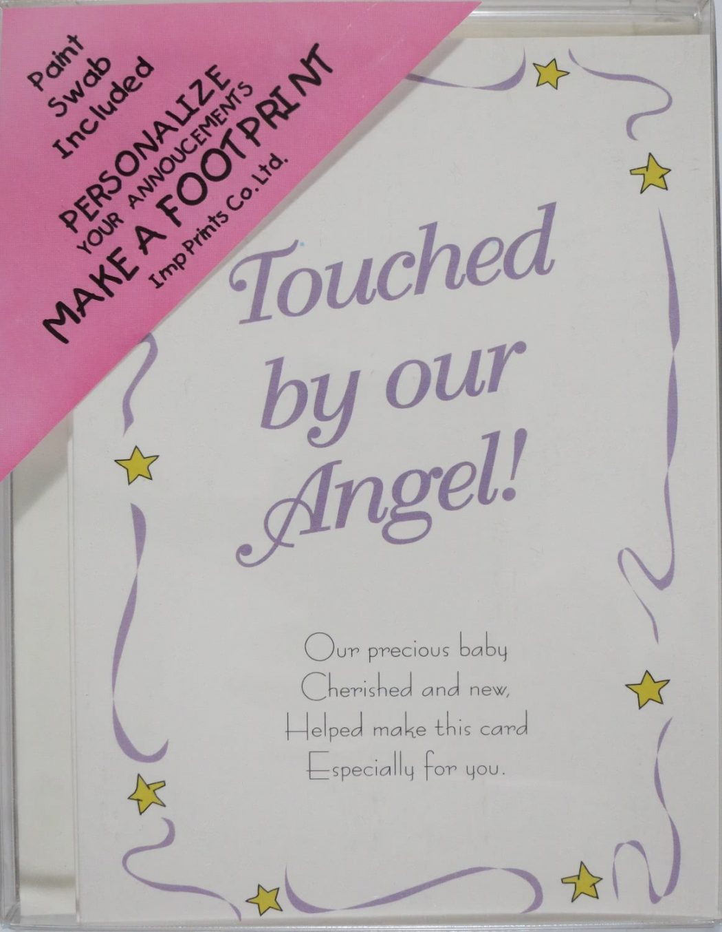 Angel Birth Announcements & Pink Swab
