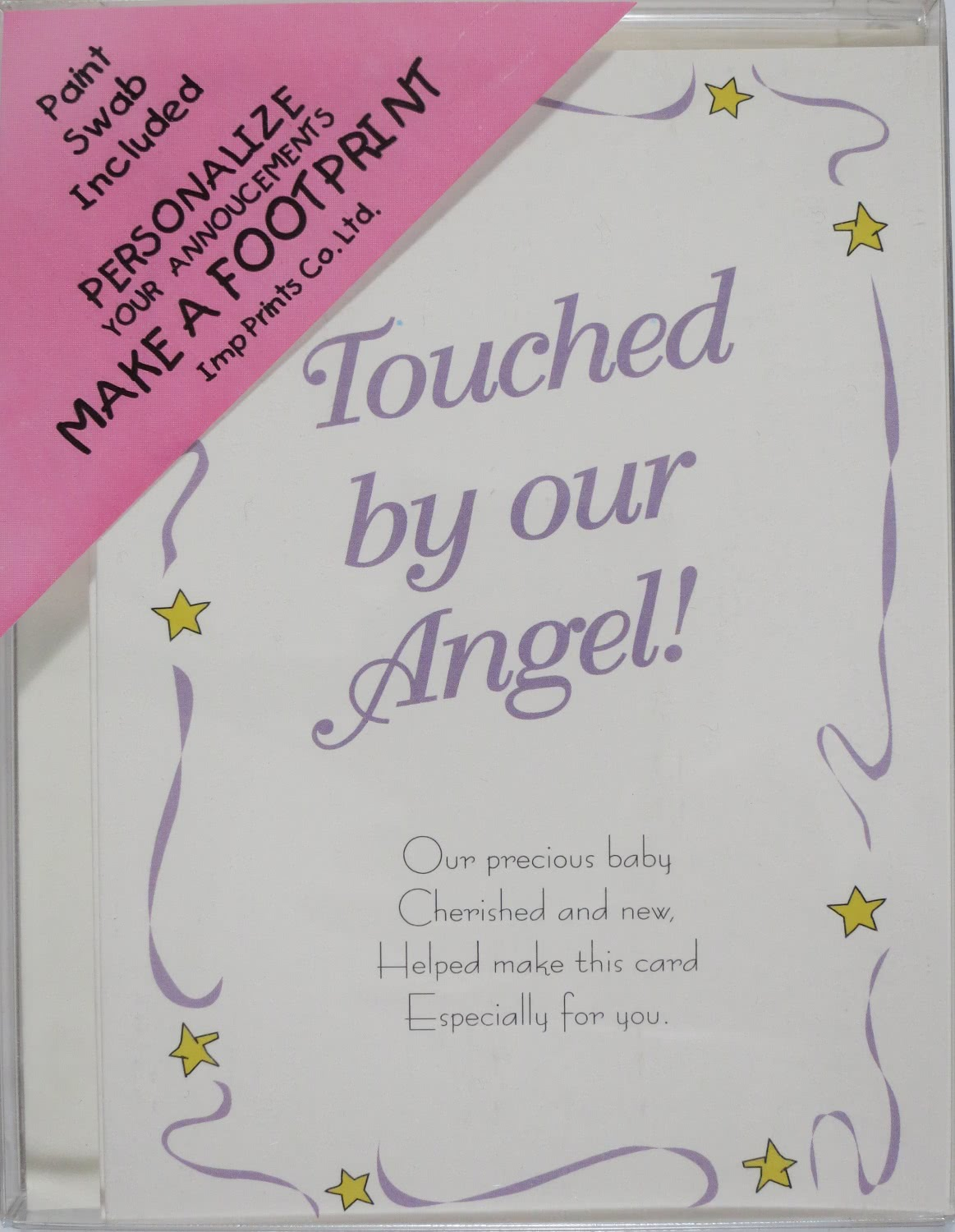 Footprint Birth Announcements Kit Make Footprints Imp Prints Co