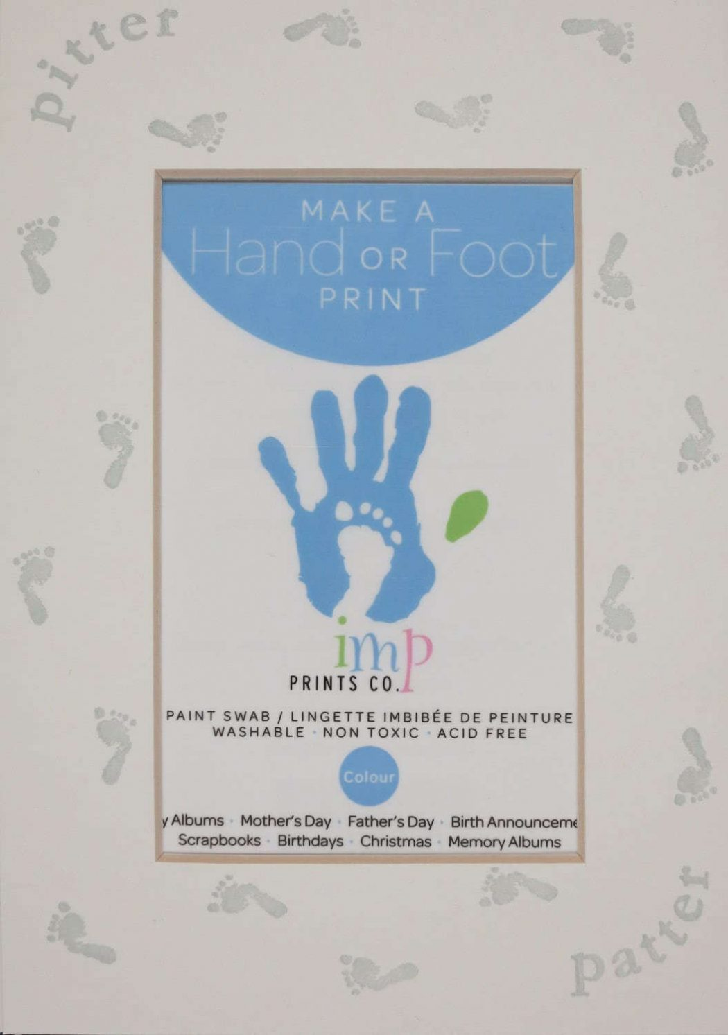 Blue Footprint Mat Kit, Printed