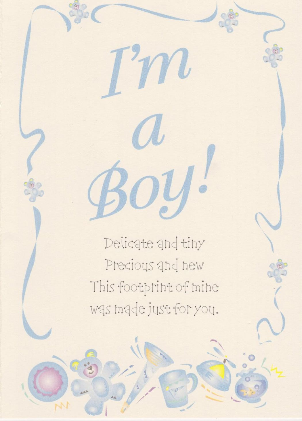 Boy Birth Announcement (2 pack)