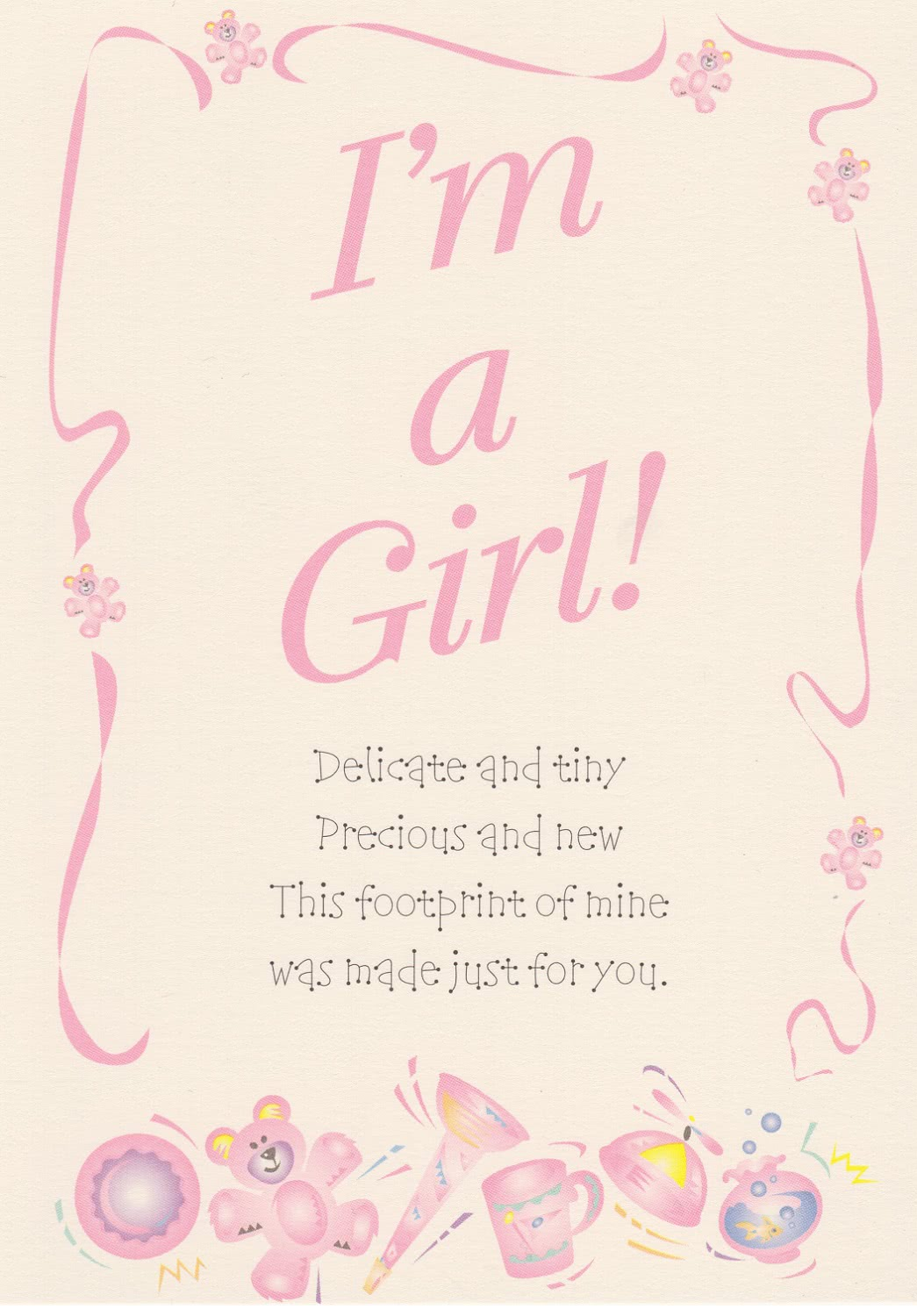 Girl Birth Announcement (2 pack)