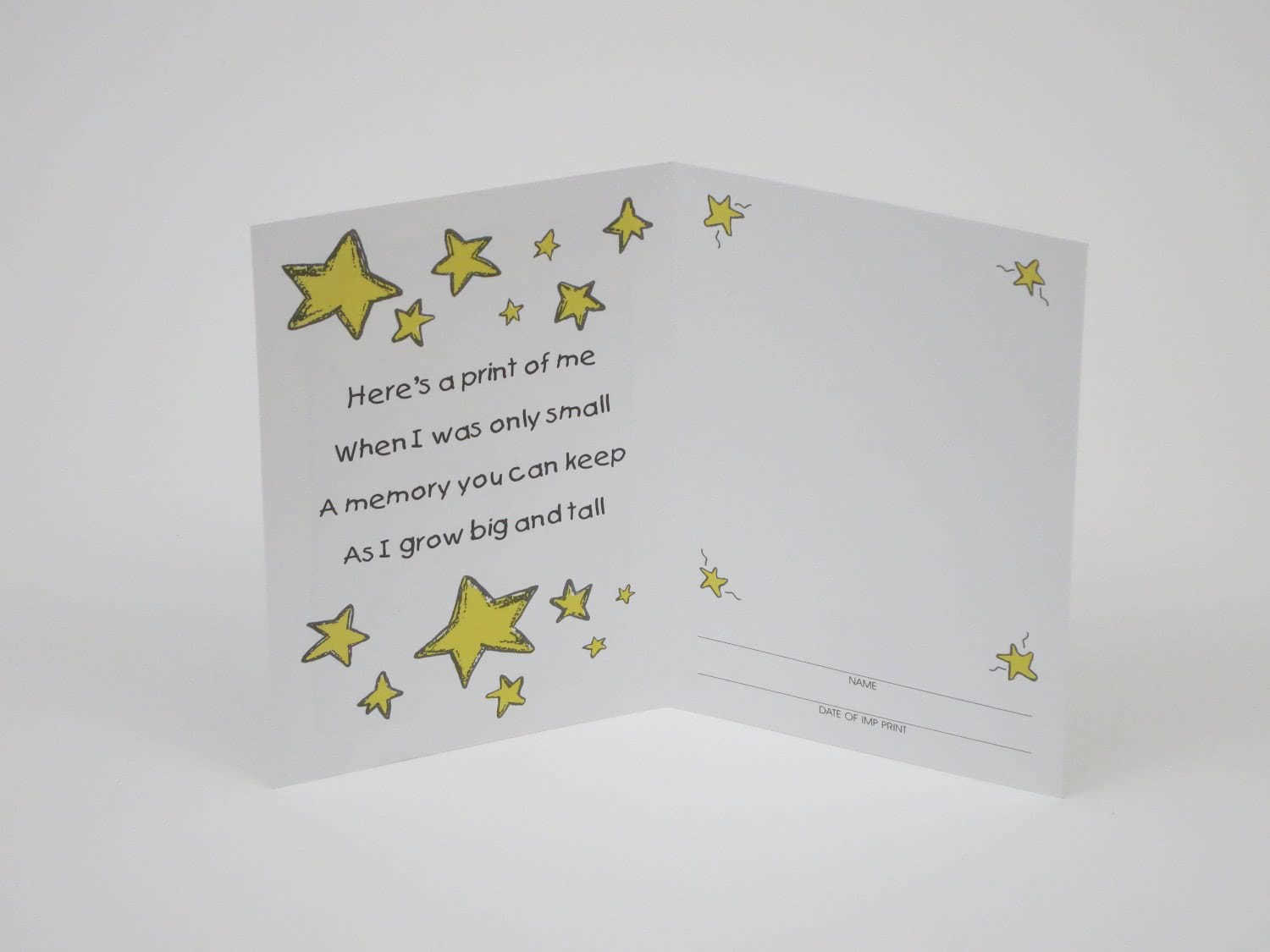 Best Fathers Day Card Imp Prints Co With Hand Or Footprints
