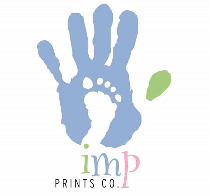 Imp Prints Co keepsakes for parents Logo and link to home page