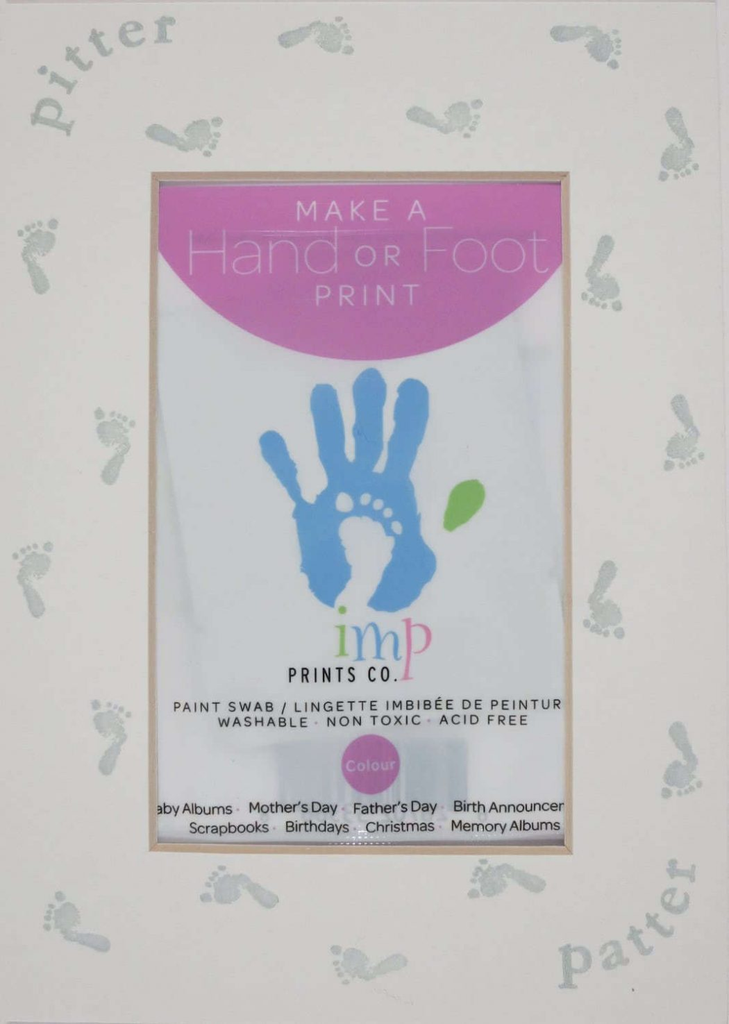 Purple Footprint Mat Kit, Printed
